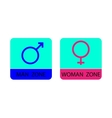 Men and women sign icons - vector image