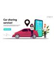mobile city transportation concept online car sh vector image