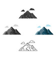 mountain icon for web and vector image
