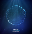 music abstract background blue equalizer vector image vector image