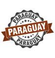 paraguay round ribbon seal vector image vector image