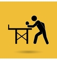 ping pong game design vector image vector image