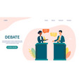 political campaigning showing a debate vector image