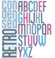 Poster retro striped font bright condensed vector image vector image