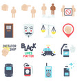 protest related icon set 1 flat style vector image