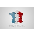 Puzzle France France logo design Map of France vector image