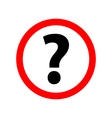 Question Icon Picture on white background vector image