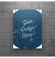 Realistic hanging Paper Sheet Mockup vector image vector image