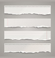 ripped paper strips realistic crumpled paper vector image vector image