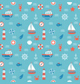 Seamless pattern with nautical elements marine