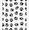 seamless print dogs paws vector image vector image