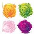 set abstract floral background vector image vector image