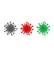 set coronavirus symbol different color virus vector image vector image