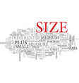 size word cloud concept vector image vector image