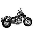 sketch vintage motorcycle vector image vector image