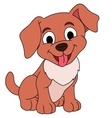 Smiling little puppy vector image vector image