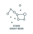 starsbig dippergreat bear line icon vector image