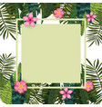 summer sale trendy tropical leaves and flowers vector image vector image