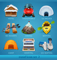 travel icon set-2 vector image vector image