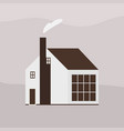two-storey wooden living house or cottage of vector image