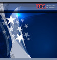 usa flag color template vector image vector image