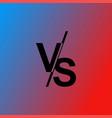 versus vs letters vector image vector image