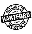 welcome to hartford black stamp vector image vector image