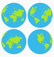 World icon set earth globe collection planet