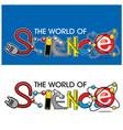 world science logo design vector image vector image
