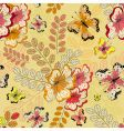 yellow seamless floral pattern vector image vector image