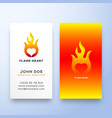 flame heart abstract sign symbol or logo vector image