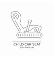 Child car seat thin line flat icon vector image