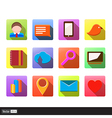 Set of flat social media icons vector image
