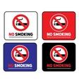 Labels set No smoking stickers vector image
