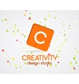 abstract logo design Creativity studio vector image vector image