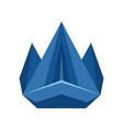 abstract rock stone blue logo creative concept vector image vector image