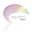 Abstract swirl icon colorful dots design vector image
