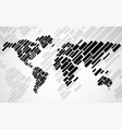 abstract world map with lines world stripes map vector image vector image