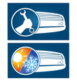 Air conditioning silhouette vector image vector image