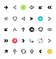 Arrow flat design arrows set