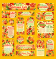 autumn sale tag and label set with fall leaf vector image vector image
