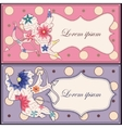 Background with Cupid vintage set vector image vector image