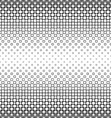 Black and white square pattern design background vector image vector image