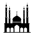 black mosque on white vector image