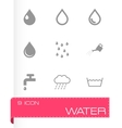 black water icon set vector image vector image