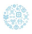 blockchain crypto round blue vector image