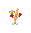 boxing winner pencil isolated on a white vector image vector image