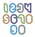 Bright unusual rounded numbers colorful vector image
