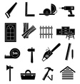 Carpentry icons set vector image vector image