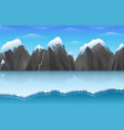 cartoon winter arctic ice landscape with iceberg a vector image